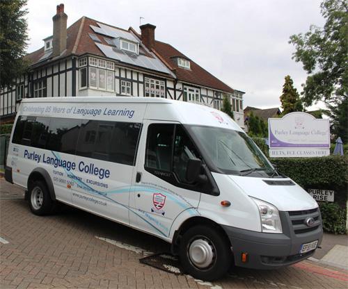 Purley Language College minibus