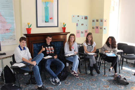 Students at Purley Language College